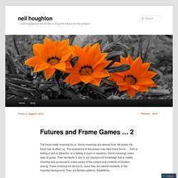 Futures and Frame Games … 2