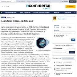 Les futures tendances de l'e-pub - À la une - e-marketing.fr