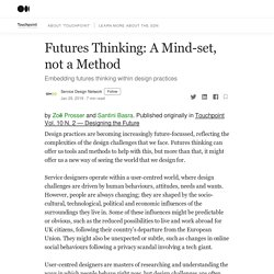 Futures Thinking: A Mind-set, not a Method
