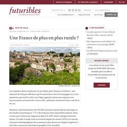 Une France de plus en plus rurale ? - Futuribles - Veille, prospective, stratégie