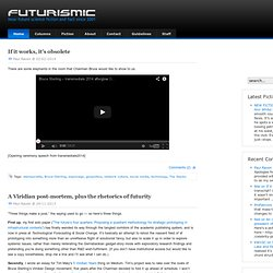 Futurismic - near-future science fiction and fact since 2001