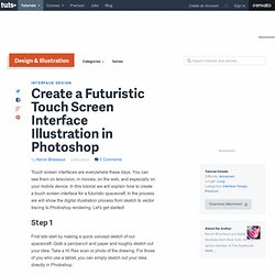 Create a Futuristic Touch Screen Interface Illustration in Photoshop