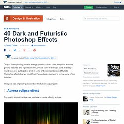 Dark and Futuristic Photoshop Effects