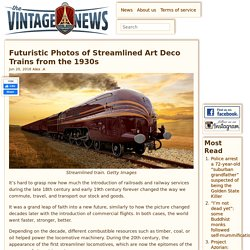 Futuristic Photos of Streamlined Art Deco Trains from the 1930s