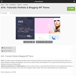 AVA - Futuristic Portfolio & Blogging WP Theme - WordPress