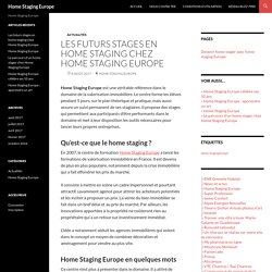 Les futurs stages en home staging chez Home Staging Europe