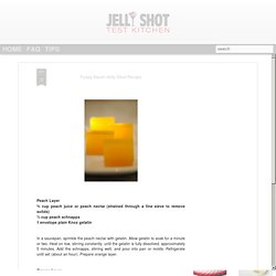 Fuzzy Navel Jelly Shot Recipe