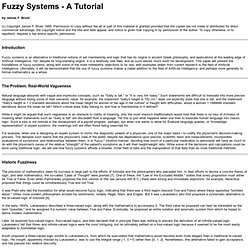 Fuzzy Systems - A Tutorial