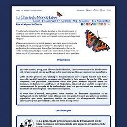La Charte du Monde Libre (The Free World Charter): Lire et signer la Charte