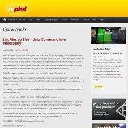 List Files by Size – Unix Command line Philosophy