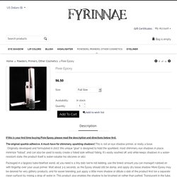 Fyrinnae: Pixie Epoxy