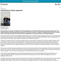 Cursor: Fysicawinkel opgedoekt