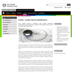 Fysiikan ja tähtitieteen laitos