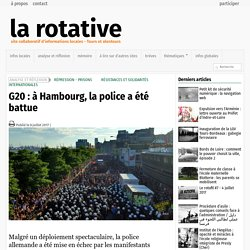 G20 : à Hambourg, la police a été battue