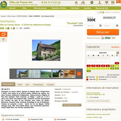 Gîte Au Caveau Oncin, G255001 à Montagnieu - Gîte 2 personnes dans l'Ain