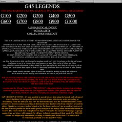 G45 Legends - THE G100