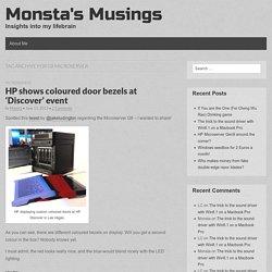 Monsta's Musings