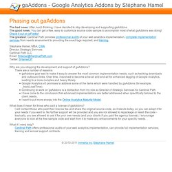 Google Analytics addons