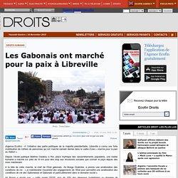 Les Gabonais ont marché pour la paix à Libreville