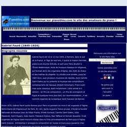 Gabriel Fauré - pianobleu.com