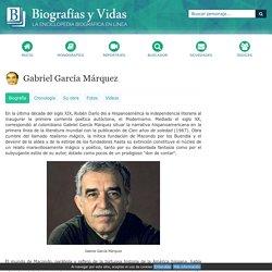 Gabriel García Márquez. Biografía.