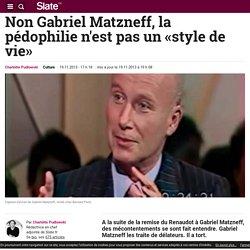 Non Gabriel Matzneff, la pédophilie n'est pas un «style de vie»