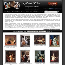 Gabriel Metsu - The complete works
