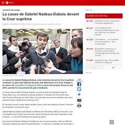 La cause de Gabriel Nadeau-Dubois devant la Cour suprême