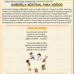 Gabriela Mistral para niños