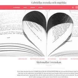 Gabriellas svenska och engelska - Skrivmallar i svenskan