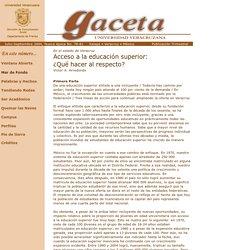 Gaceta No. 78-81 Universidad Veracruzana