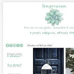 """Une vie sans gâchis: 10 cadeaux de Noël """"zéro déchet"""""""