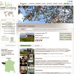La Gacilly Hotel Hotel Bretagne La Grée des Landes La Gacilly hotel Hotel vert BioLodging