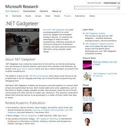 .NET Gadgeteer