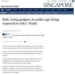 Kids 'using gadgets at earlier age being exposed to risks': Study, Singapore News