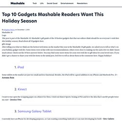 Top 10 Gadgets Mashable Readers Want This Holiday Season
