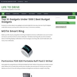 Top 10 Gadgets Under 1000