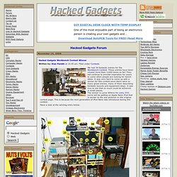 Hacked Gadgets Workbench Contest Winner - Hacked Gadgets - DIY T