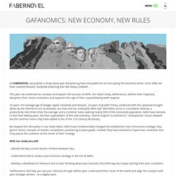 GAFAnomics: New Economy, New Rules