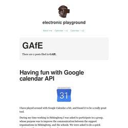 GAfE – electronic playground