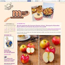 Recette gagnante du Concours Pomme Ariane : Massepain d'Issoudun façon tatin et sa brunoise de pomme à la vanille