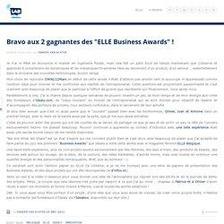 """Bravo aux 2 gagnantes des """"ELLE Business Awards"""" ! - Damien Van Achter"""