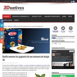 Barilla annonce les gagnants de son concours de design 3D - 3Dnatives