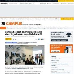 Palmarès mondial des MBA : l'Insead et HEC gagnent des places