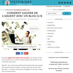 Gagner de l'argent avec un blog (1/3)