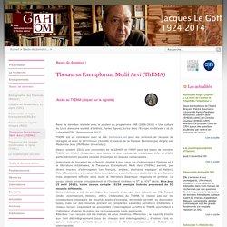 Gahom : Thesaurus Exemplorum Medii Aevi (ThEMA)