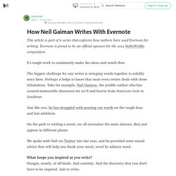 How Neil Gaiman Writes With Evernote — Inspired to Write