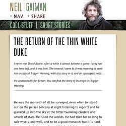 The Return of the Thin White Duke