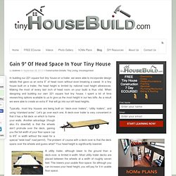 """Gain 9"""" Of Head Space In Your Tiny House"""