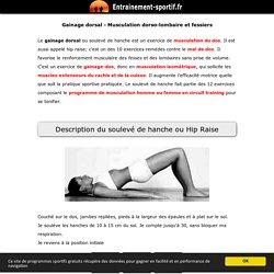 Dorsaux exercice de musculation isometrique